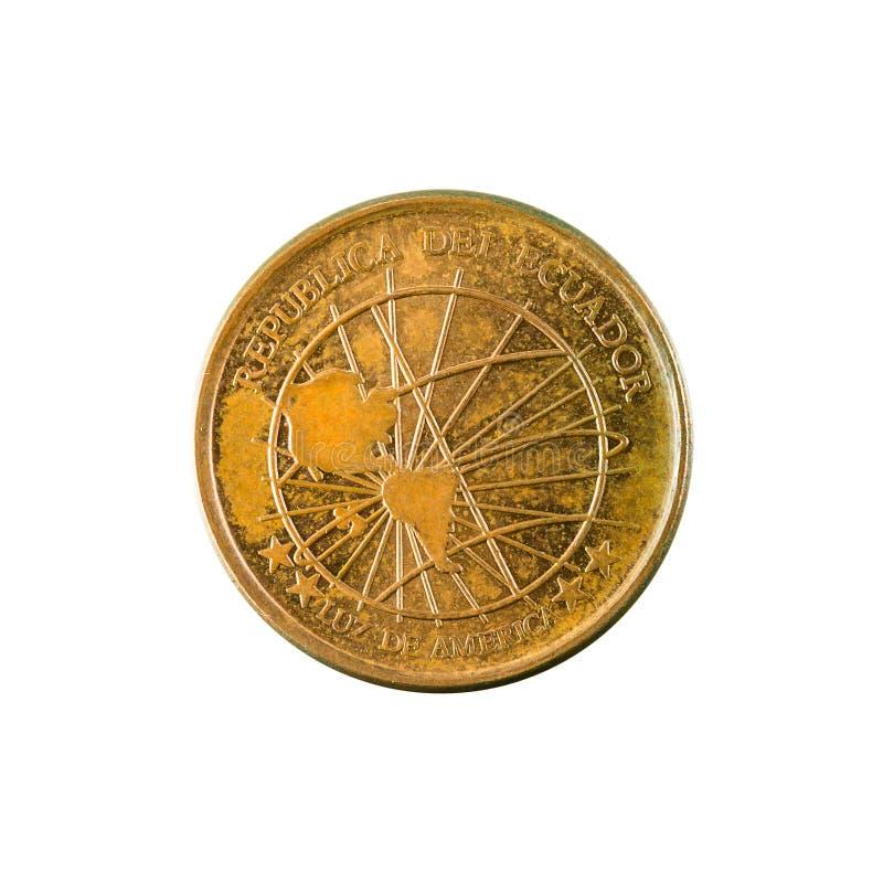 1 inverse de la pièce de monnaie 2003 de centavo d'ecuadorian photo libre de droits