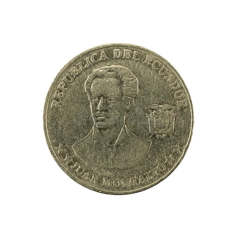 5 inverse de la pièce de monnaie 2000 de centavo d'ecuadorian photos stock