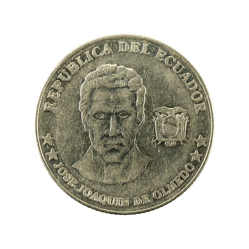 25 inverse de la pièce de monnaie 2000 de centavo d'ecuadorian photos libres de droits