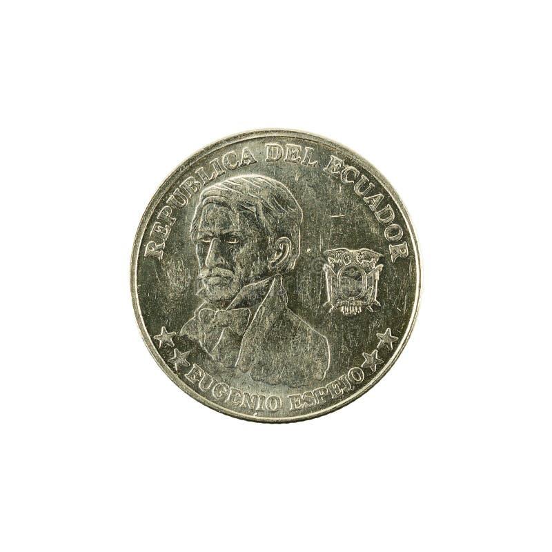 10 inverse de la pièce de monnaie 2000 de centavo d'ecuadorian photo libre de droits