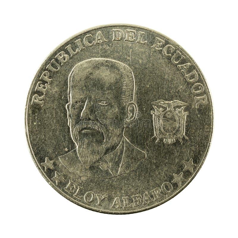 50 inverse de la pièce de monnaie 2000 de centavo d'ecuadorian photo stock