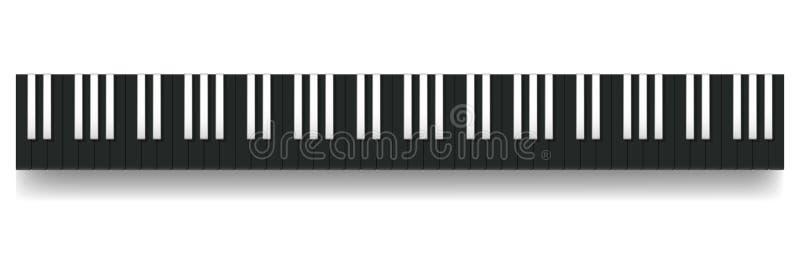 Inverse Piano Keyboard Reverse Black Octaves vector illustration