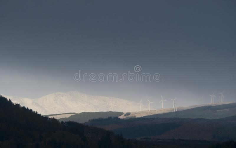First snows in the Scottish Highlands stock image