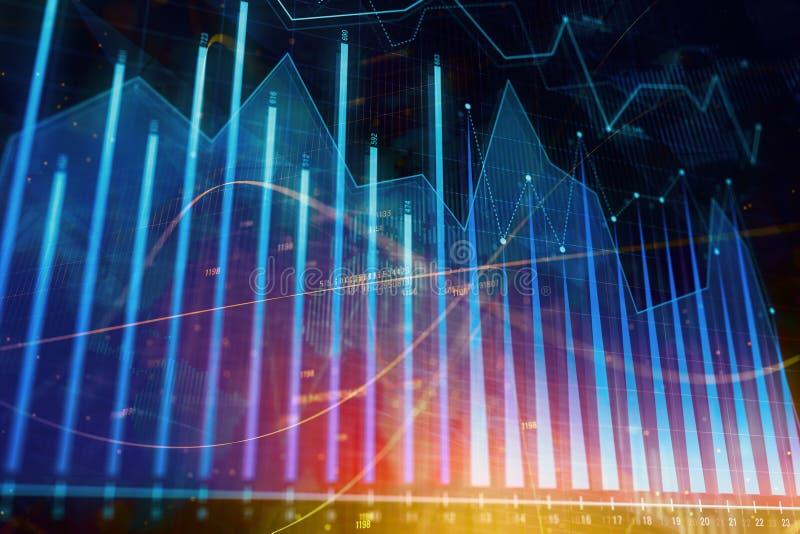 Inversión, acción y contexto del beneficio ilustración del vector