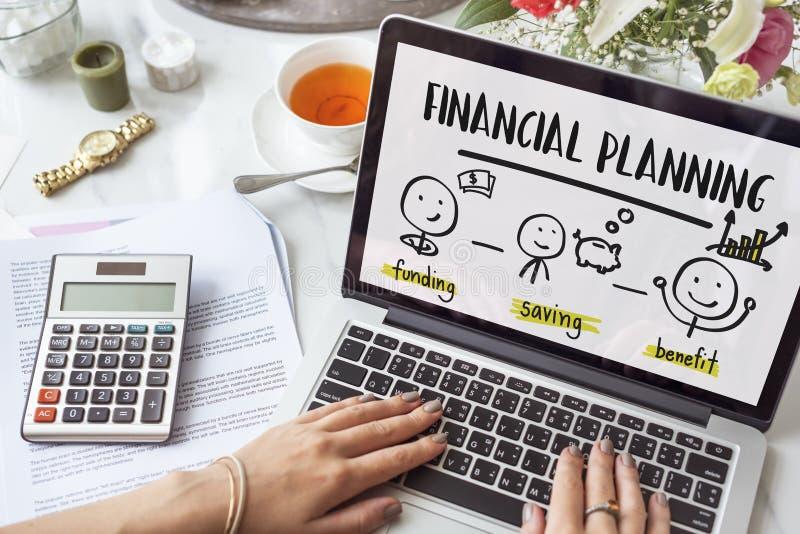 Inversión Conce de la renta de la contabilidad del planeamiento de la transacción financiera fotos de archivo libres de regalías