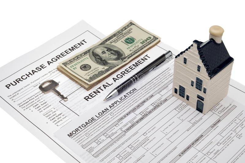Inversión de la propiedad y cepillado financiero imagen de archivo