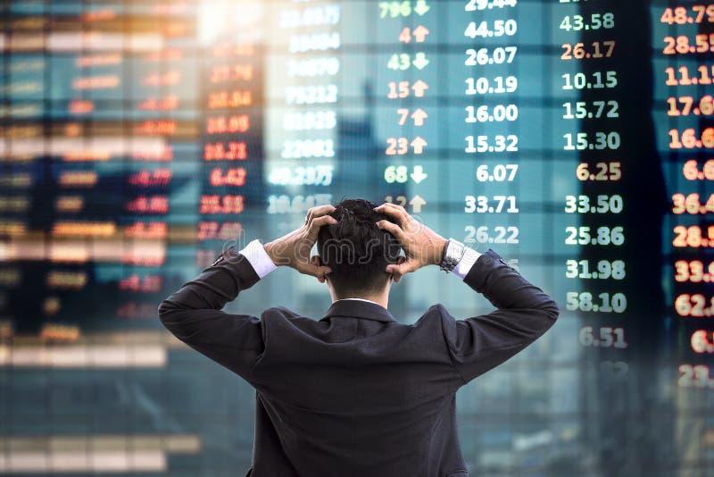 Inversión de riesgo, inversores que están decepcionados imagen de archivo