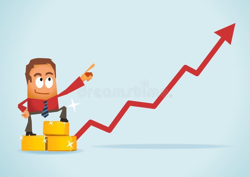 Inversión del oro ilustración del vector