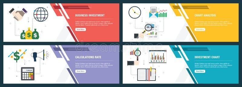 Inversión empresarial, análisis de gráficos, tasa de cálculo, gráfico de inversiones libre illustration