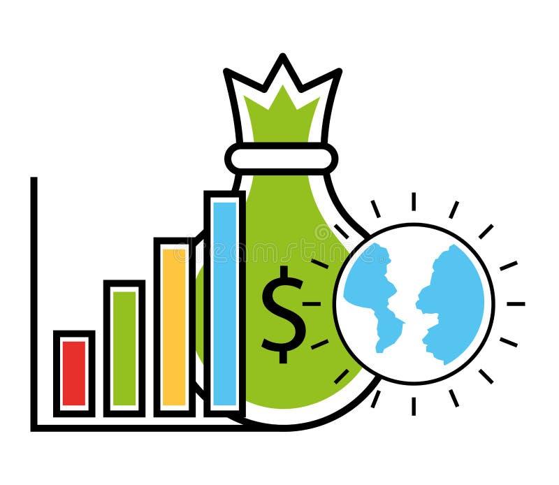 Inversión empresarial del bolso del dinero libre illustration