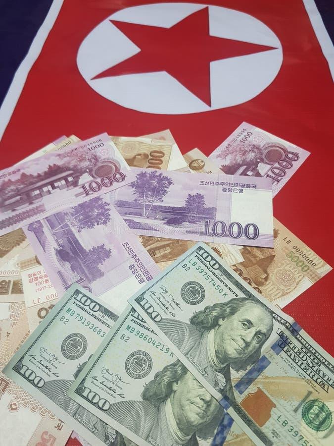 Inversión en el sistema financiero de los E.E.U.U. en Corea del Norte para el desarrollo económico imagen de archivo libre de regalías