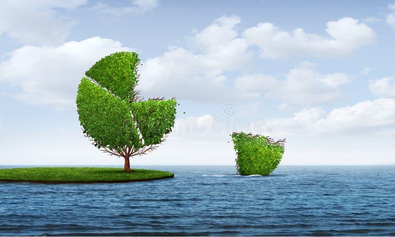 Inversión en mercados extranjeros ilustración del vector