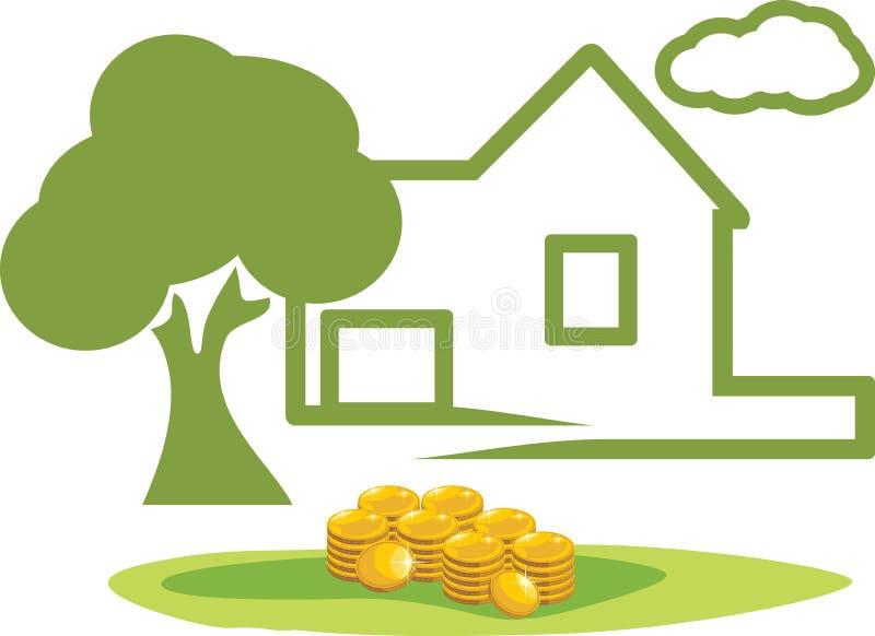 Inversión en propiedades inmobiliarias stock de ilustración