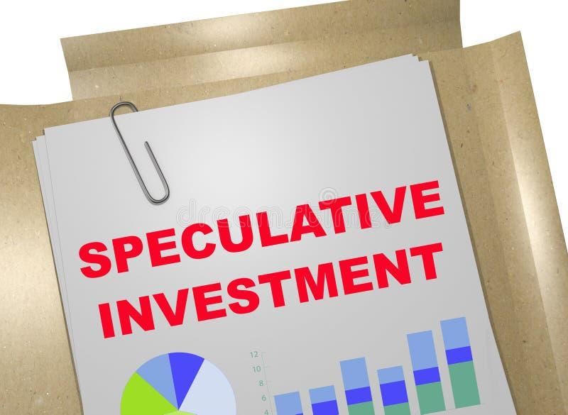 Inversión especulativa - concepto del negocio ilustración del vector