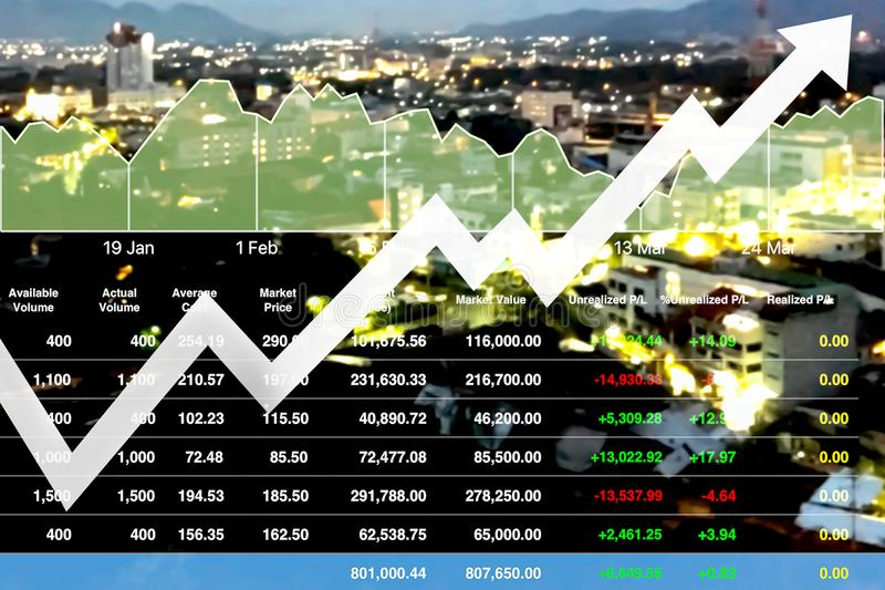 Inversión financiera acertada del negocio en propiedades inmobiliarias fotos de archivo