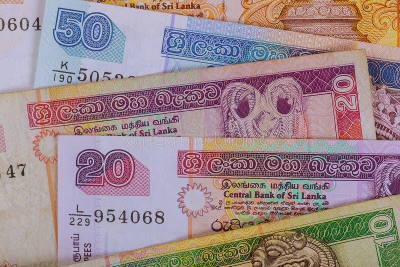 Inversión financiera de la rupia de la moneda de Sri Lanka foto de archivo