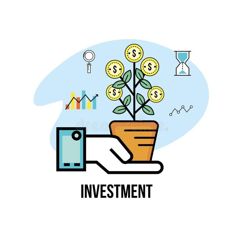 Inversión y analytics a la estrategia de la corporación stock de ilustración