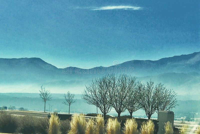 Inversion de la température de Colorado Springs photo libre de droits