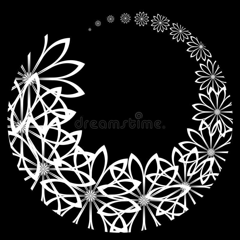 Inversion des fleurs noires illustration stock