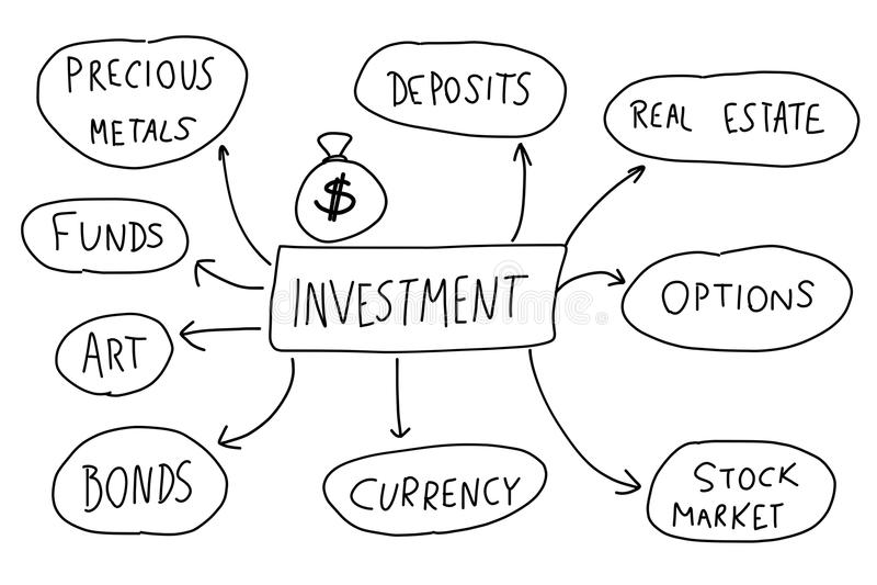 Inversiones stock de ilustración