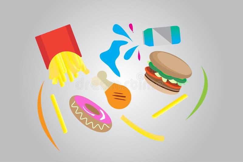 Inverso degli alimenti a rapida preparazione fotografie stock