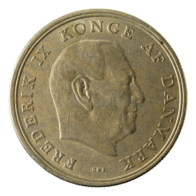 5 inverso della moneta 1961 della corona danese immagini stock