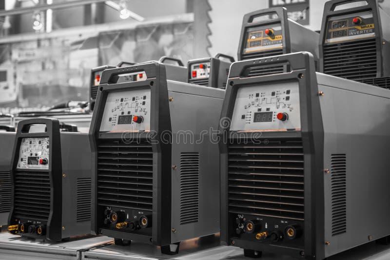 Inversores industriais da eletricidade imagens de stock