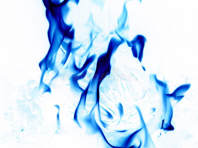 Inverted flames stock photo