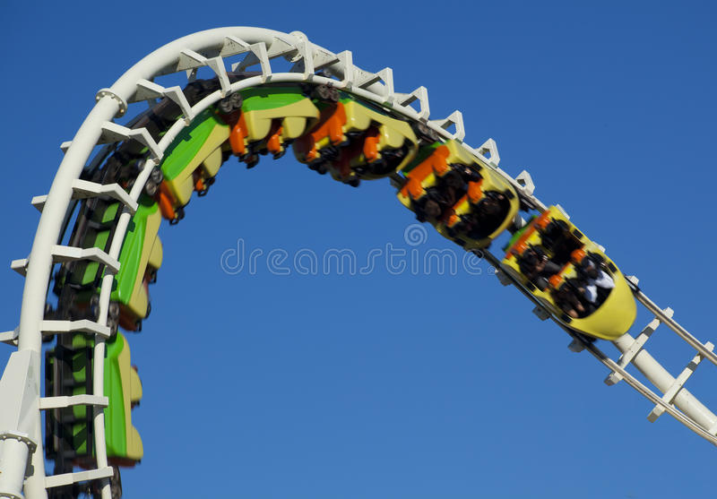 Inverted Rollercoaster stock photos