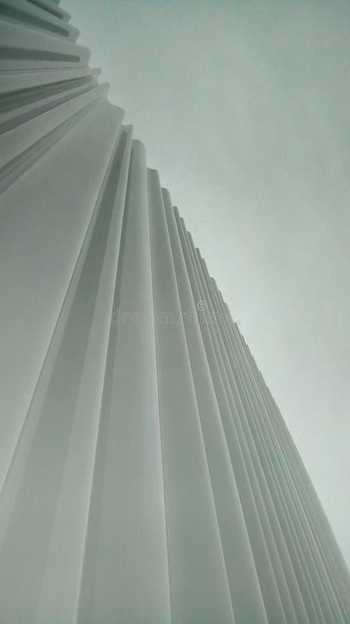 Inverterad courtain - Vitra möblemang arkivfoto
