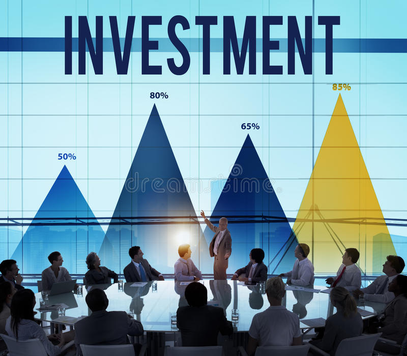 Invest Investment Fund Revenue Income Concept stock photos