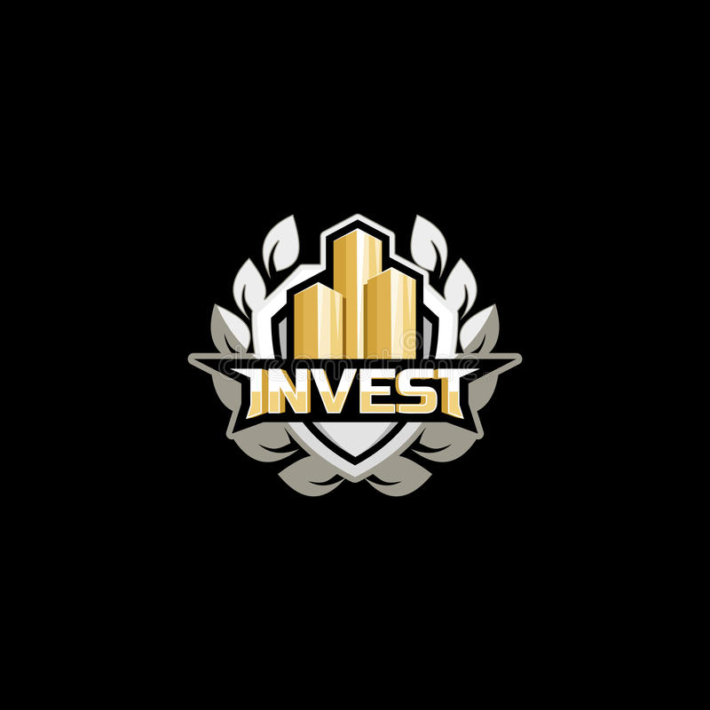 Invest logo concept. royalty free illustration