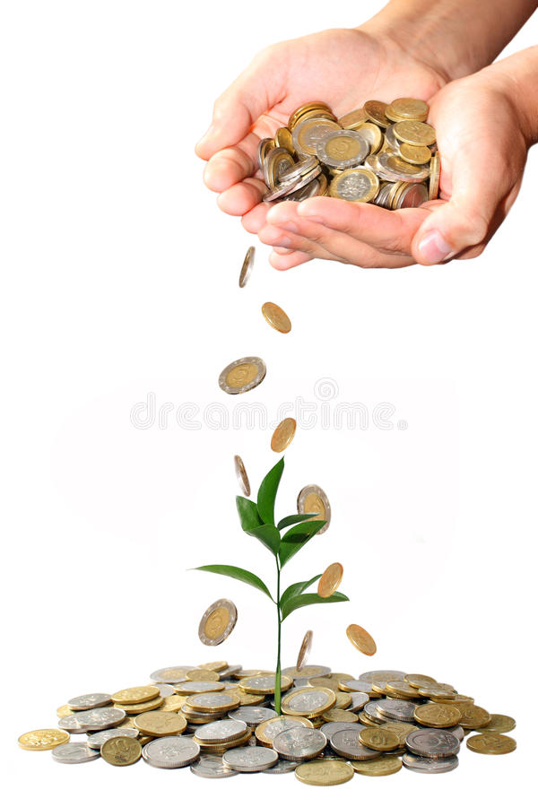 Invest money concept stock image