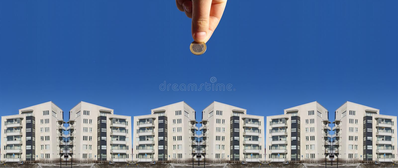 Download Invest in Real Estate stock photo. Image of cash, apartments - 2101592