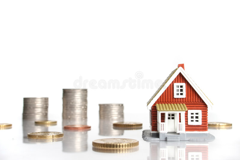 Invest in real estate concept. Isolated on white background royalty free stock image