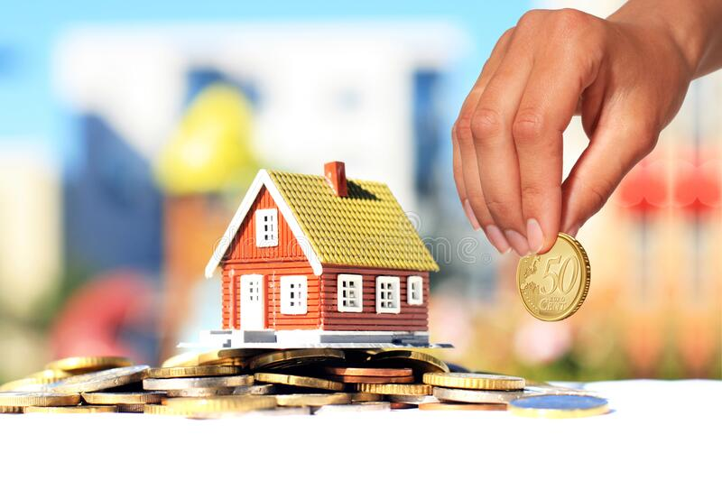 Invest in real estate. House loan concept stock photography
