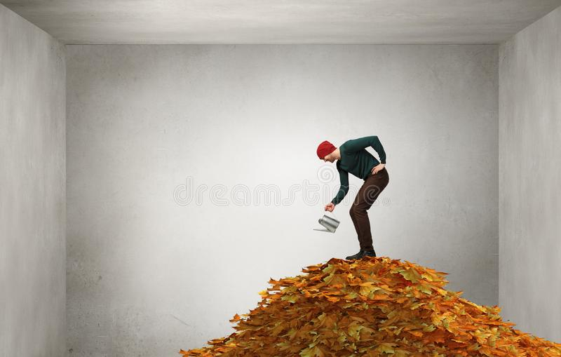 Invest right for better future . Mixed media stock photography