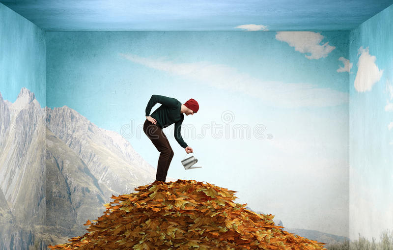 Invest right for better future . Mixed media stock photos