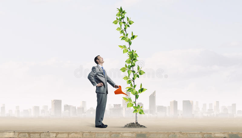 Invest right to get income . Mixed media royalty free stock photography