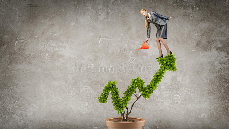 Invest to increase your incomes. Mixed media . Mixed media royalty free stock photo