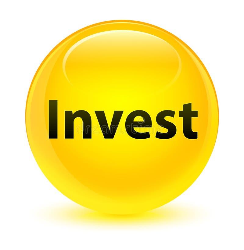 Investa il bottone rotondo giallo vetroso royalty illustrazione gratis