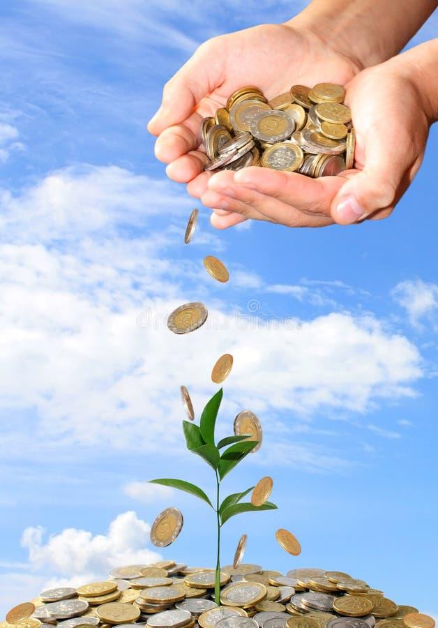 Investa il concetto dei soldi fotografia stock
