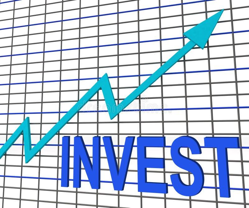Investa l'investimento di aumento di manifestazioni del grafico del grafico illustrazione di stock