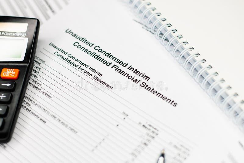 Investeer het concept van het financieringsbankwezen bedrijfsboekhoudingsrapport stock fotografie
