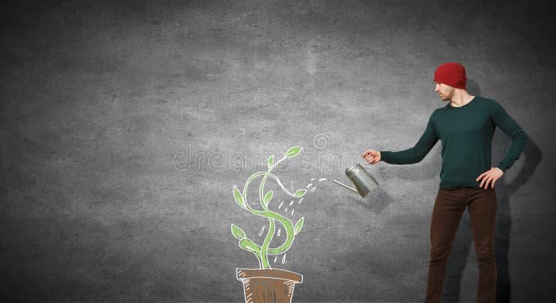 Investeer net voor betere toekomst Gemengde media royalty-vrije stock foto