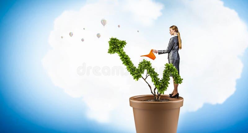 Investeer om uw inkomens te verhogen Gemengde media stock foto's