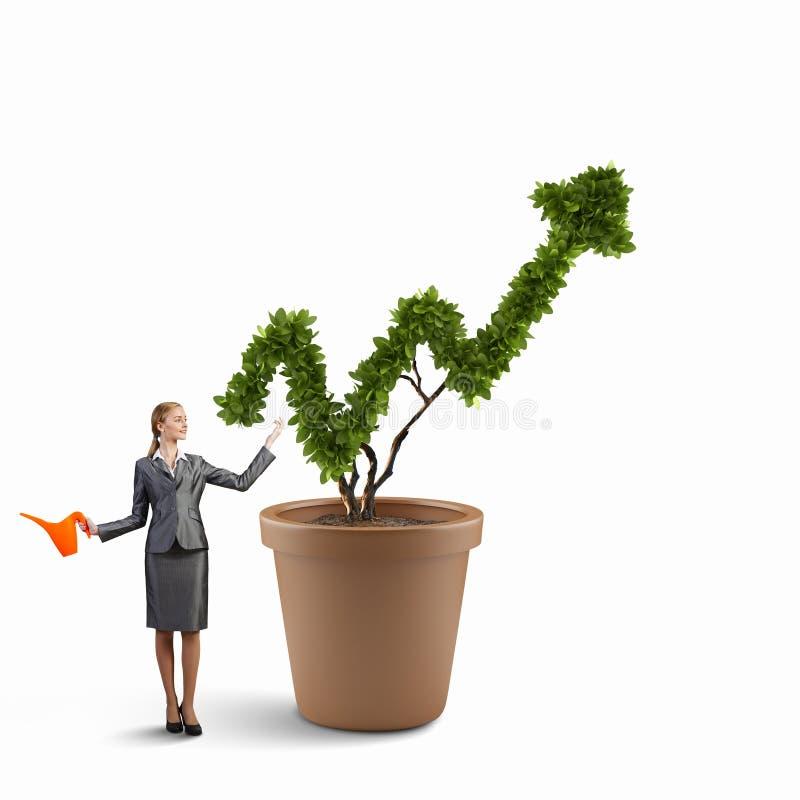 Investeer om uw inkomens te verhogen Gemengde media stock foto