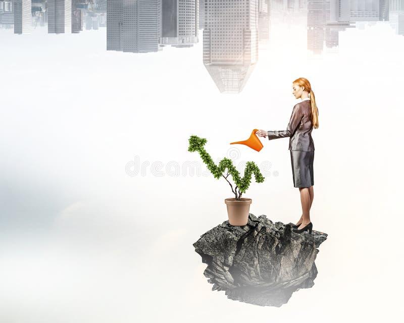 Investeer om uw inkomens te verhogen Gemengde media Gemengde media royalty-vrije stock afbeelding