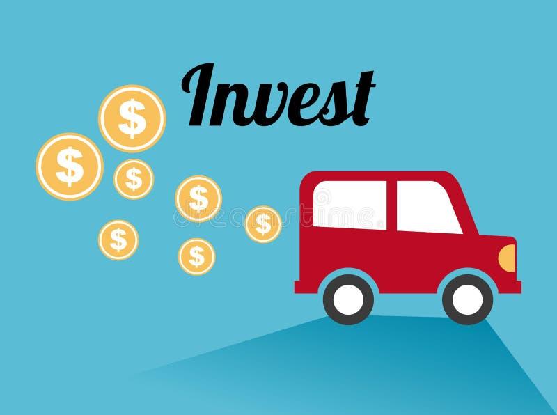 Investeer ontwerp stock illustratie