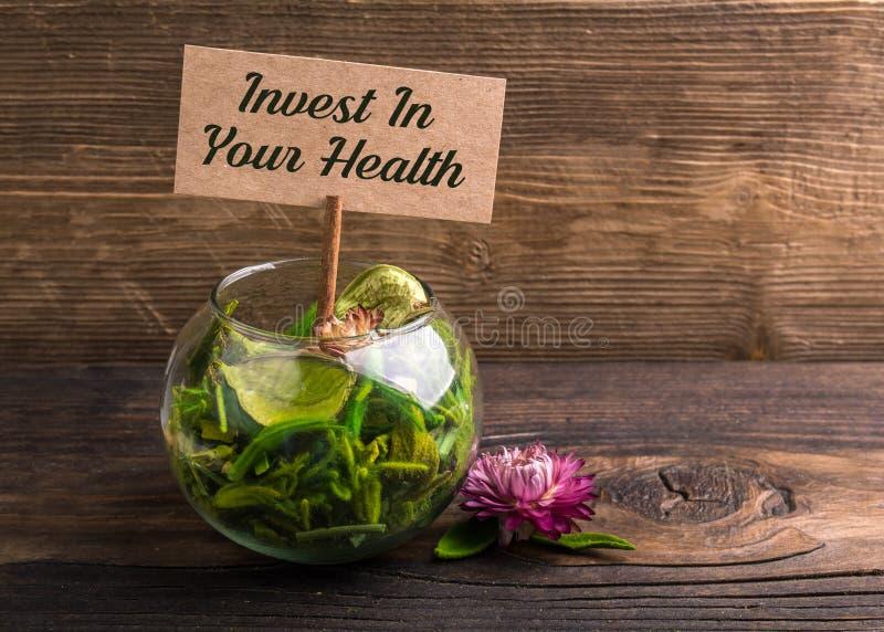 Investeer in uw gezondheid royalty-vrije stock fotografie